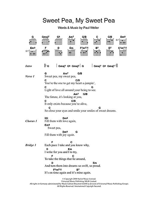 Sweet Pea, My Sweet Pea sheet music