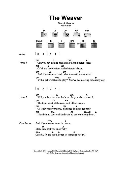 The Weaver sheet music