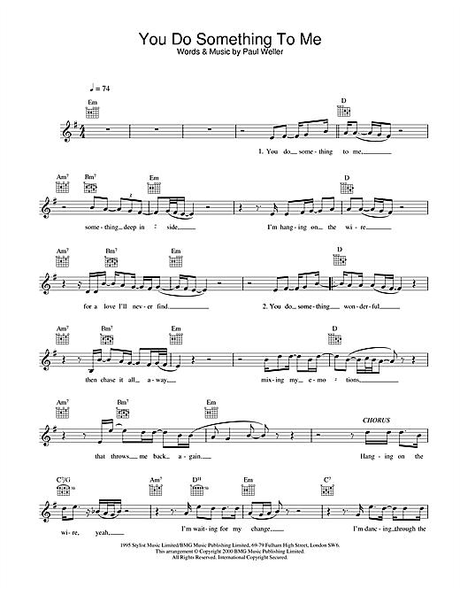 You Do Something To Me sheet music