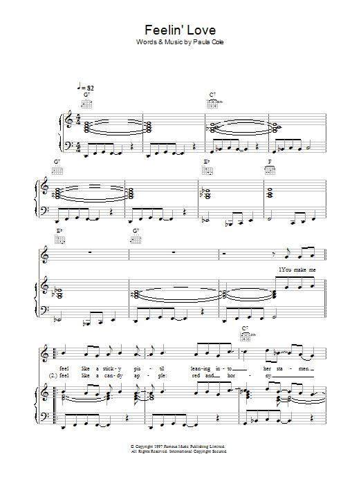 Feelin' Love sheet music