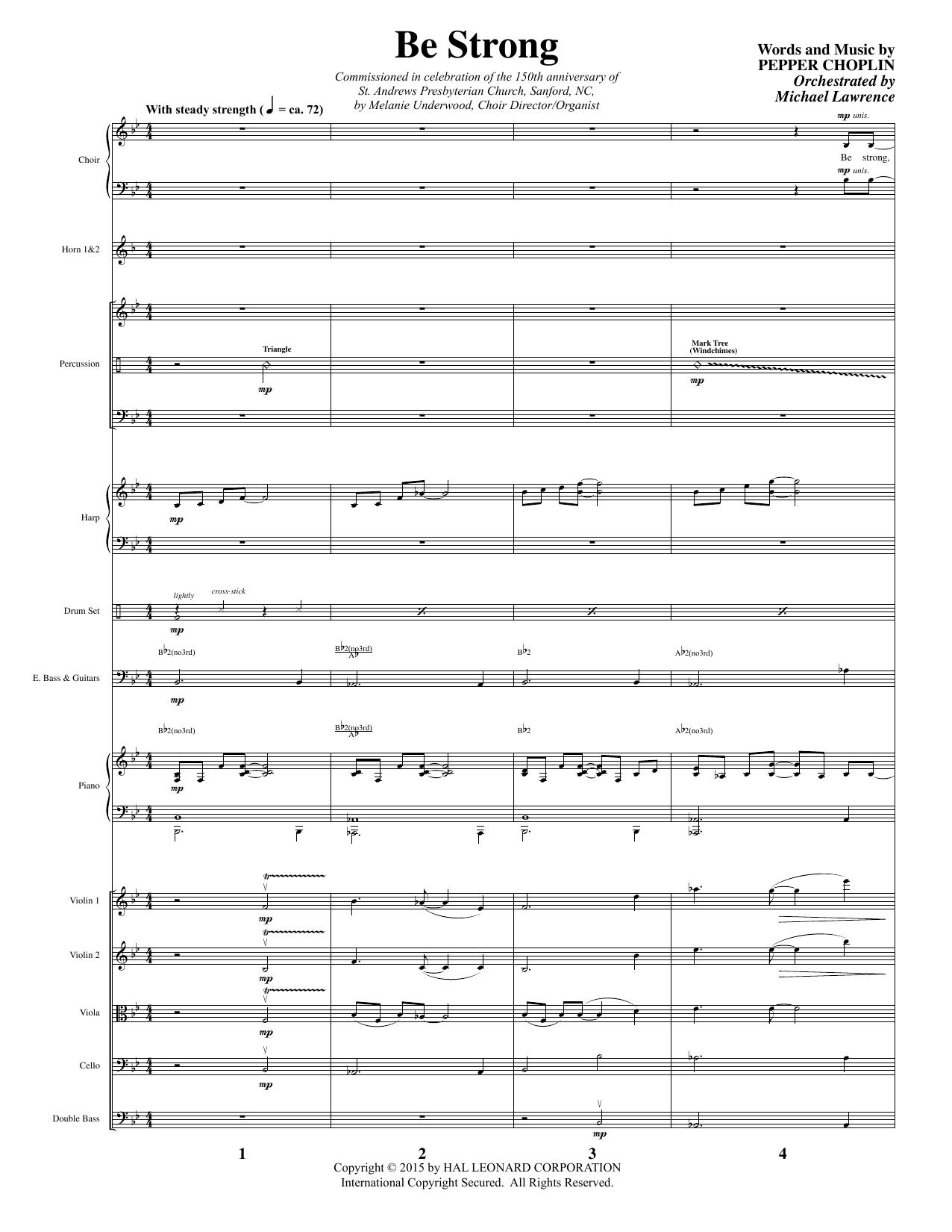 Be Strong - Full Score sheet music