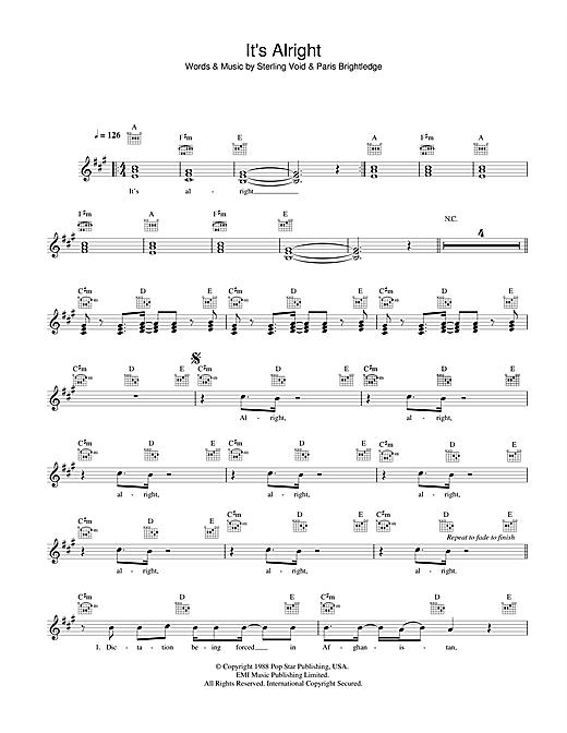 It's Alright sheet music