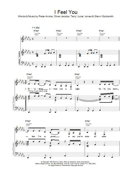 I Feel You sheet music