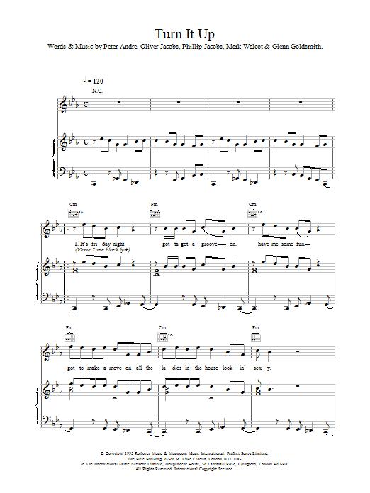Turn It Up sheet music