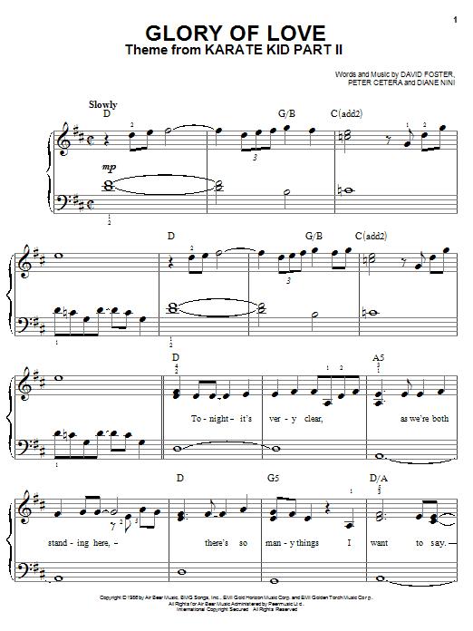 Glory Of Love sheet music