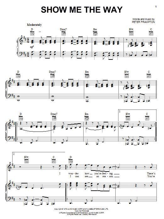 Show Me The Way sheet music