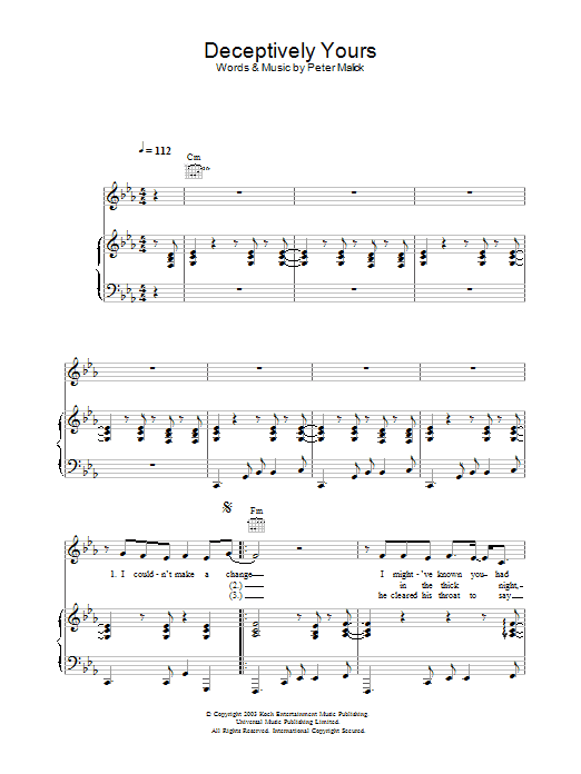 Deceptively Yours sheet music