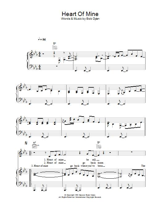 Heart Of Mine sheet music