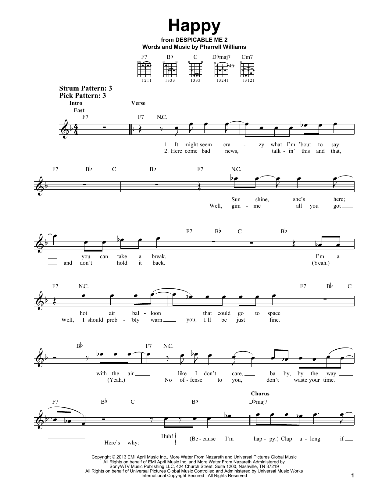 Happy sheet music