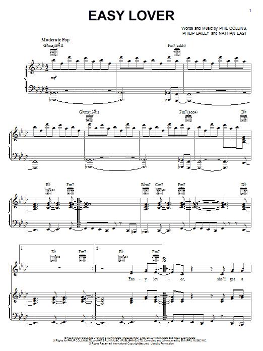 Easy Lover sheet music
