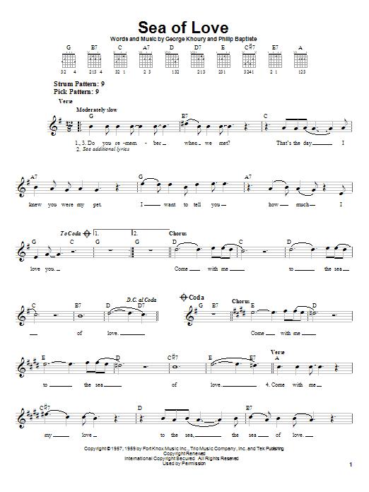 Sea Of Love sheet music