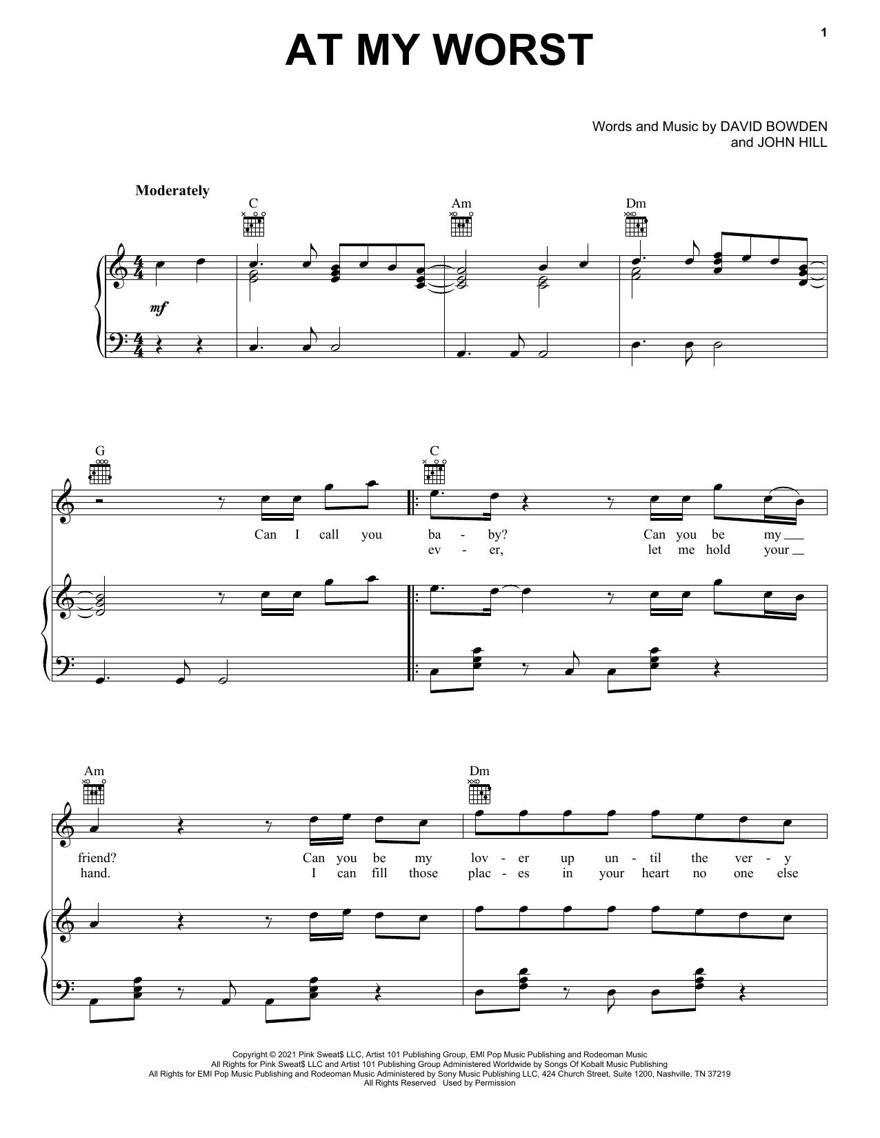 At My Worst sheet music