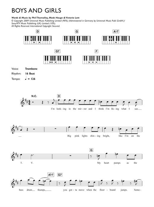 Boys And Girls sheet music