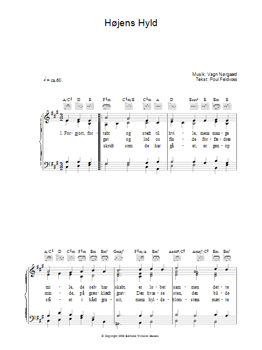 Højens Hyld sheet music