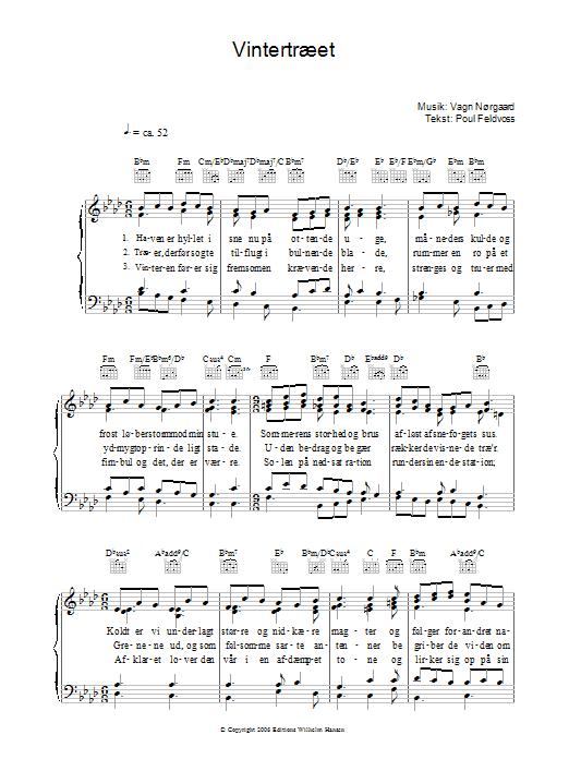 Vintertræet sheet music