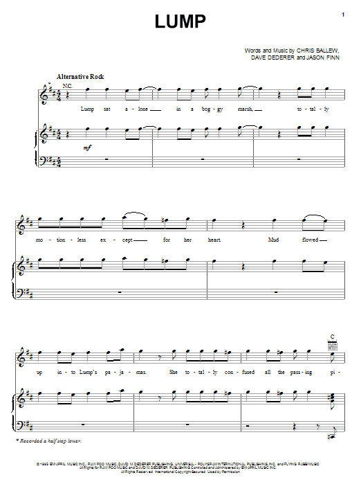 Lump sheet music