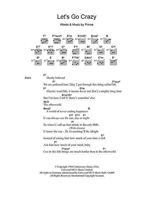 Let's Go Crazy sheet music