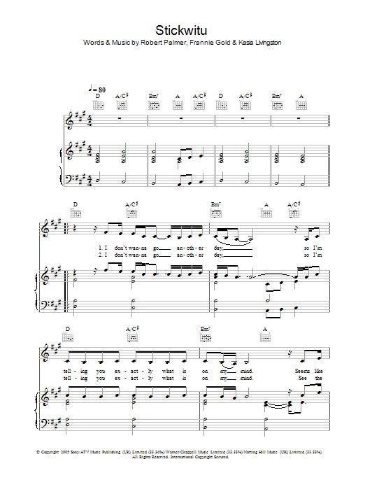 Stickwitu sheet music
