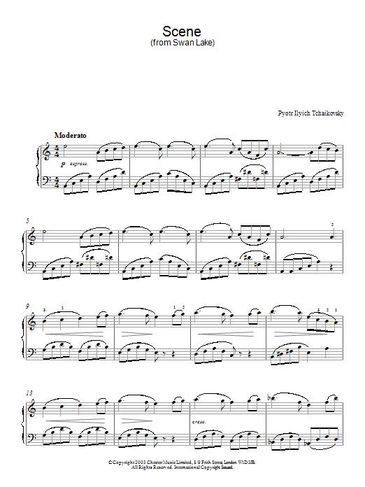 Swan Lake, Op. 20 (Scene) sheet music