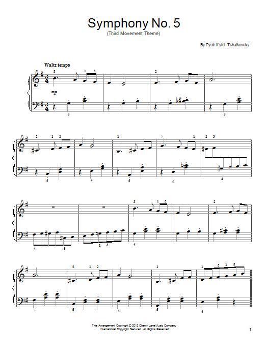 Symphony No. 5 In E Minor, Op. 64, Third Movement (