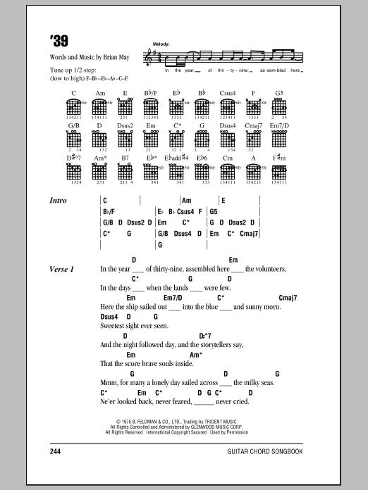 '39 sheet music
