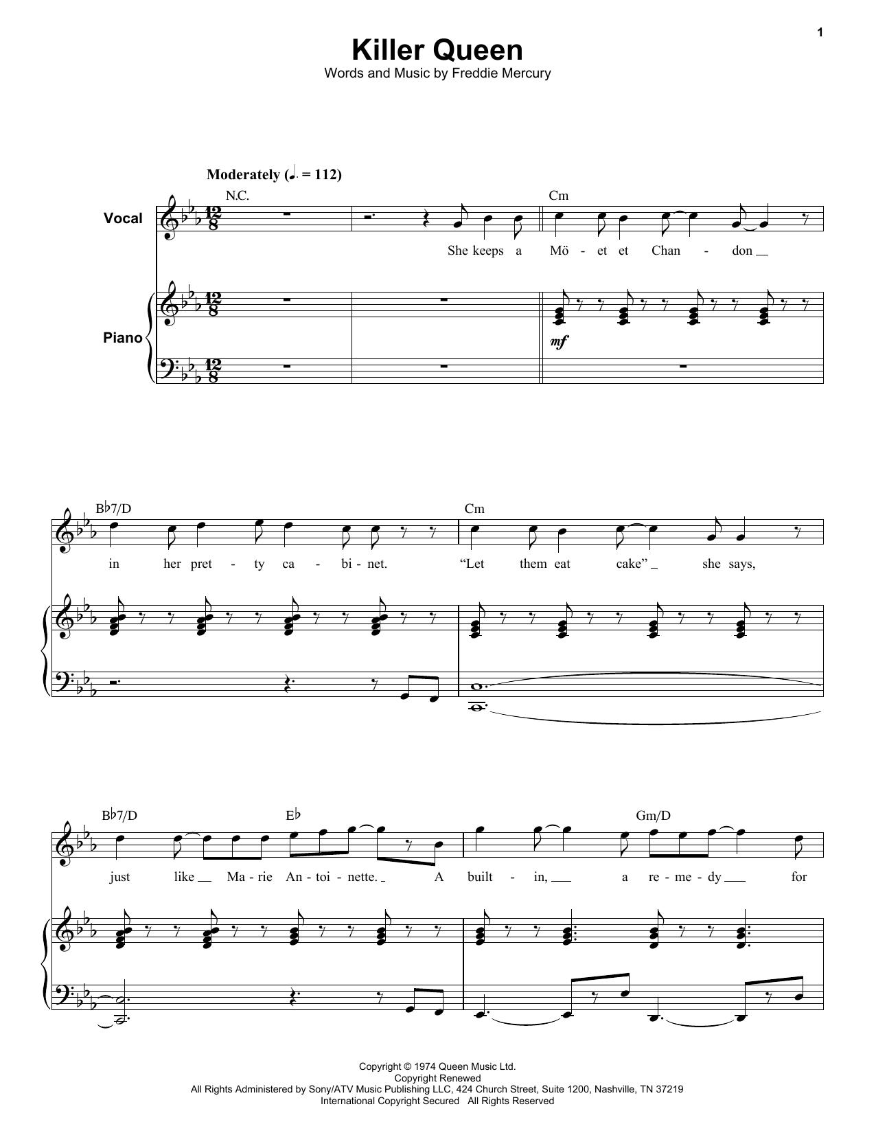 Killer Queen sheet music