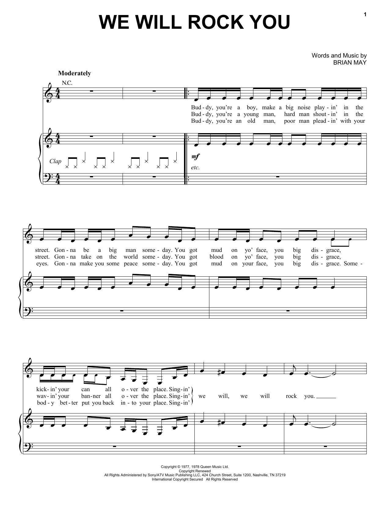 We Will Rock You sheet music