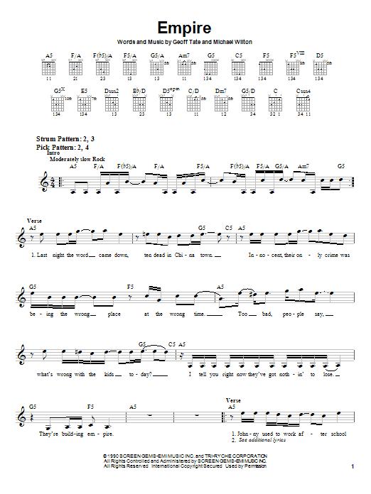 Empire sheet music