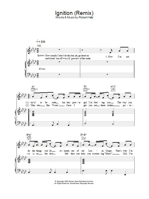 Ignition (Remix) sheet music