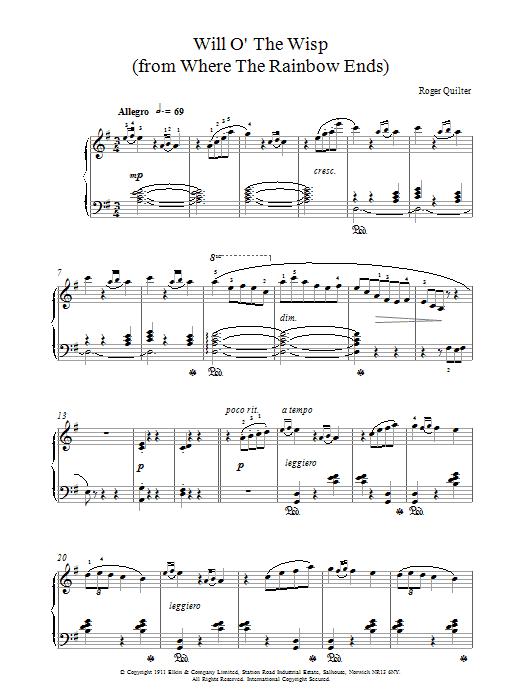 Will O The Wisp sheet music