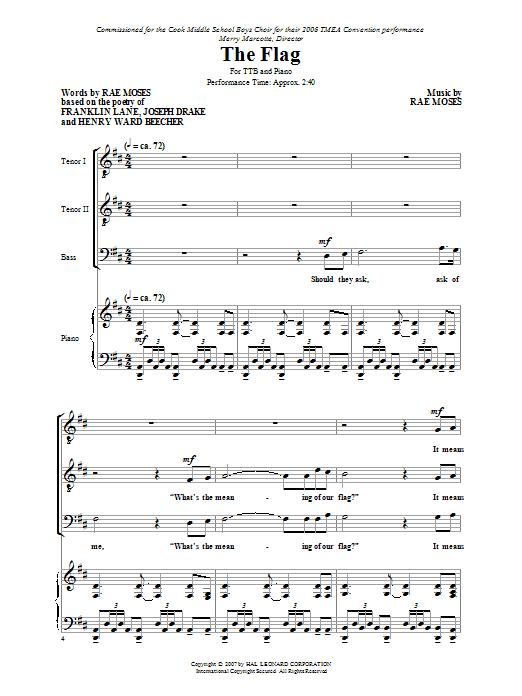 The Flag sheet music
