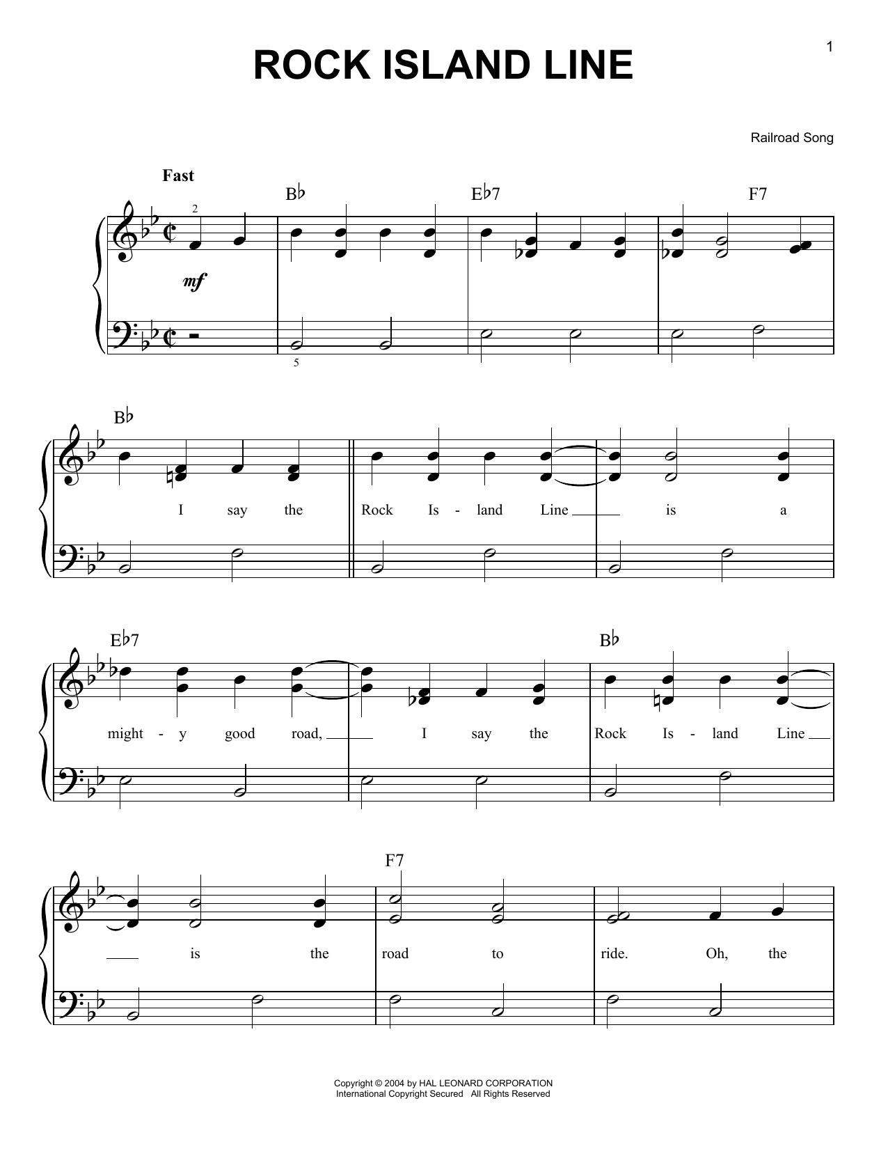 Rock Island Line sheet music