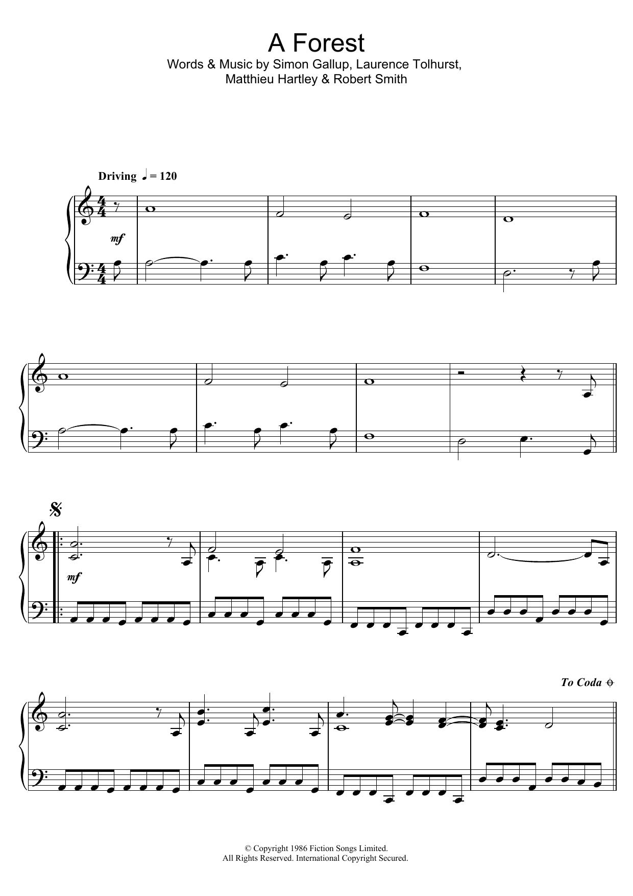 A Forest sheet music
