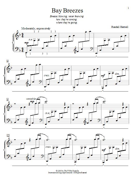 Bay Breezes sheet music