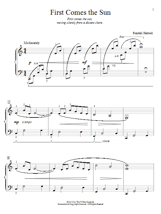 First Comes The Sun sheet music