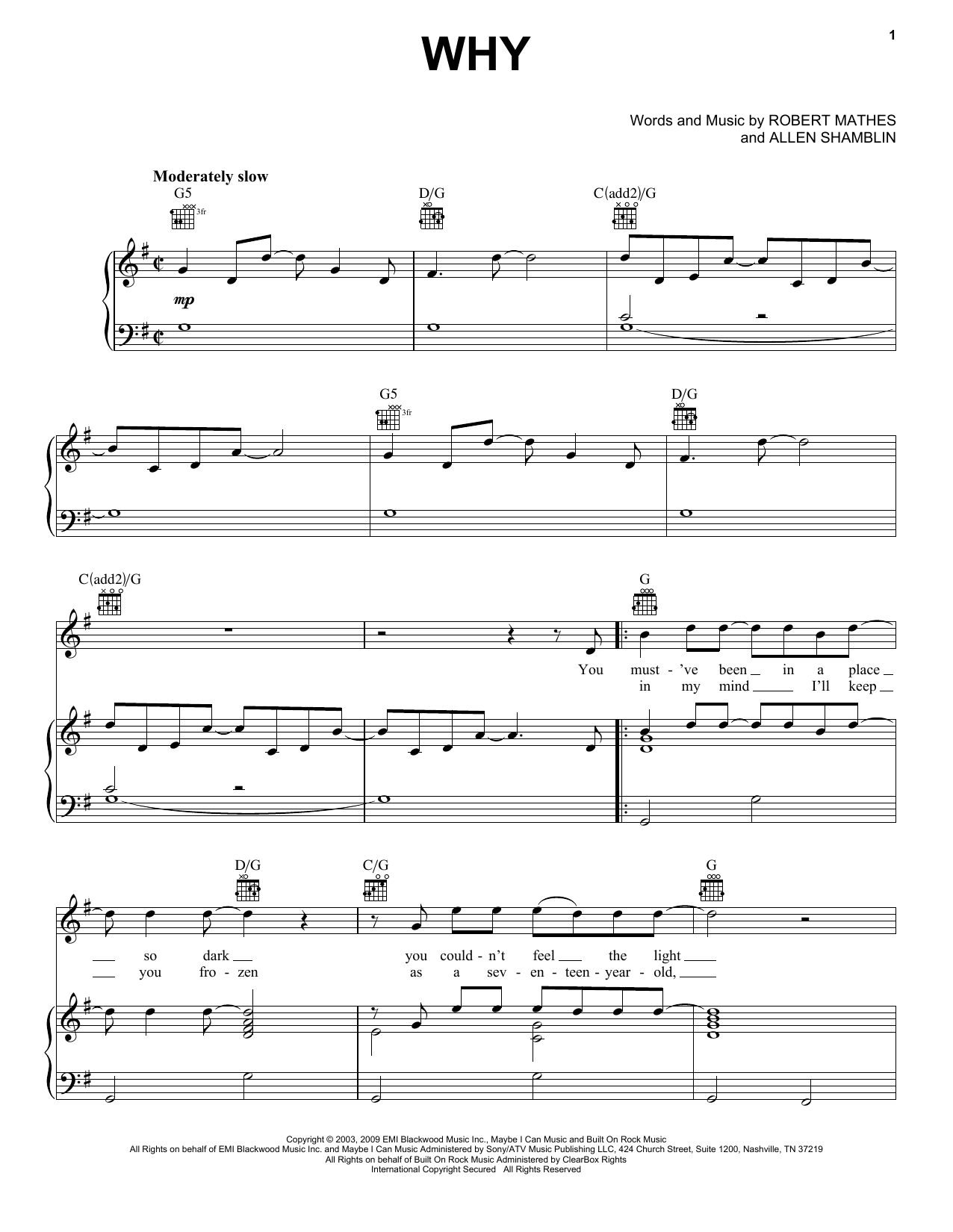 Why sheet music