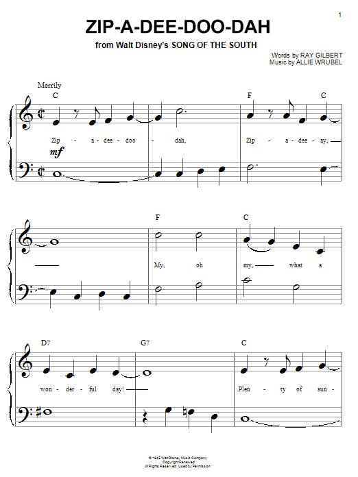 Zip-A-Dee-Doo-Dah sheet music