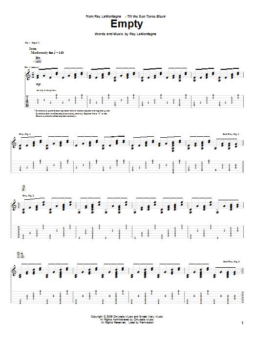 Empty sheet music