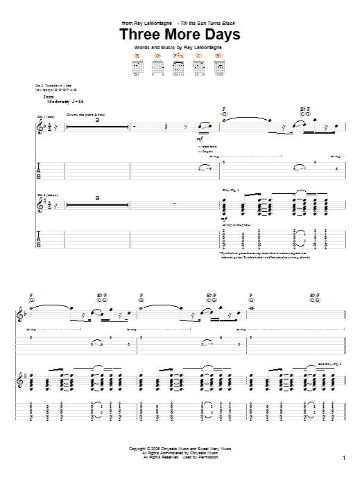 Three More Days sheet music
