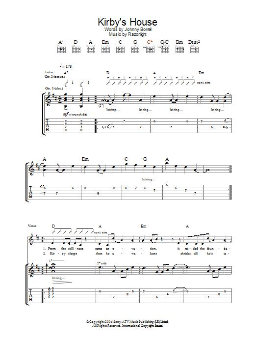 Kirby's House sheet music