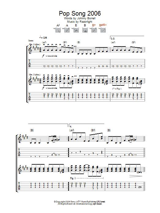 Pop Song 2006 sheet music