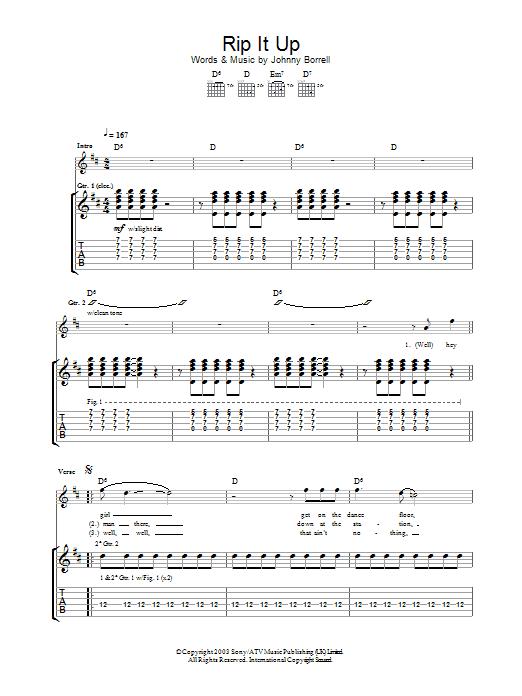 Rip It Up sheet music