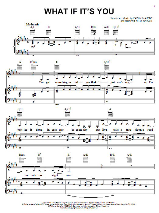 What If It's You sheet music