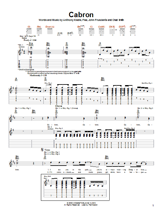 Cabron sheet music