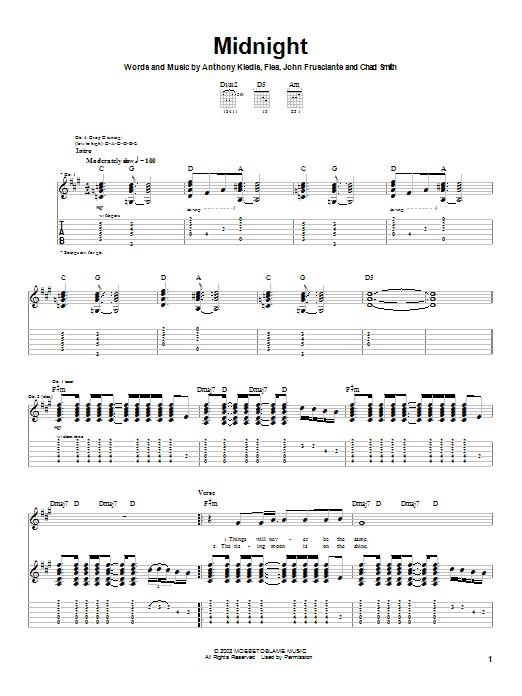 Midnight sheet music