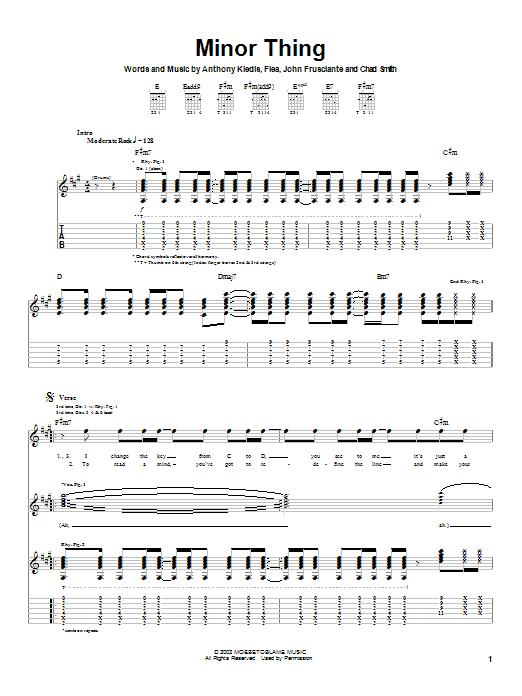 Minor Thing sheet music