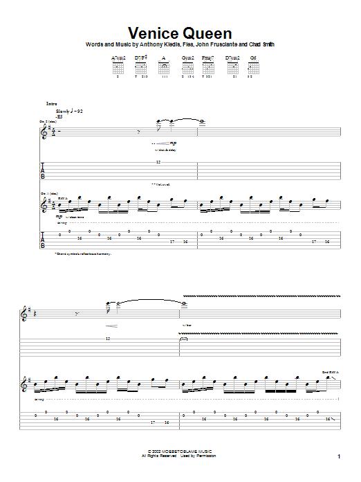 Venice Queen sheet music