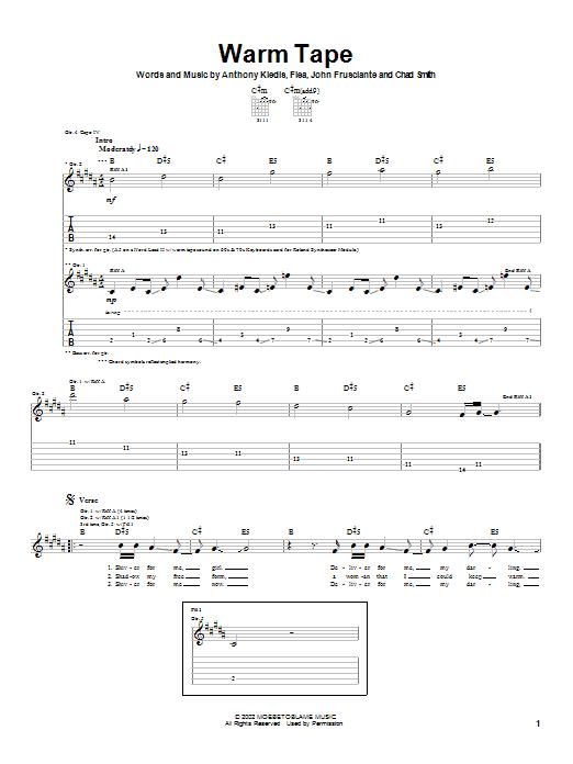 Warm Tape sheet music