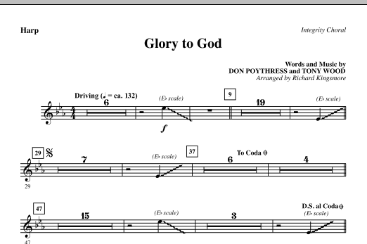 Glory To God - Harp sheet music