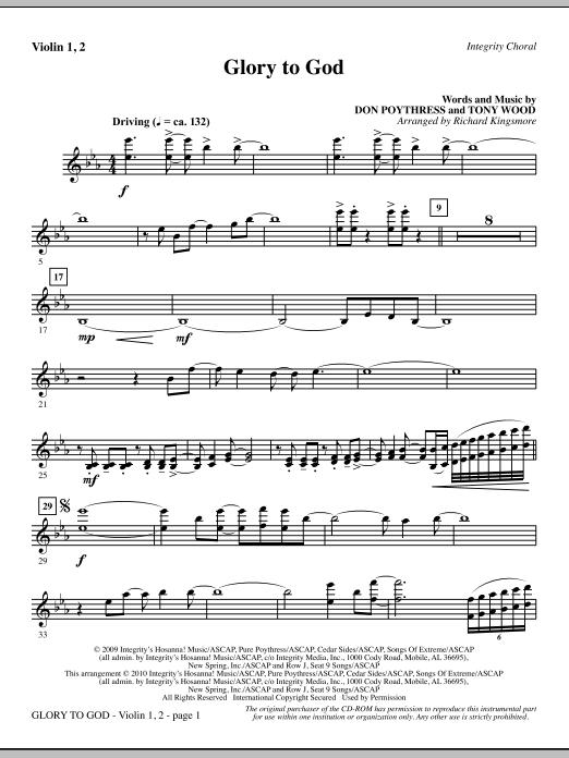 Glory To God - Violin 1, 2 sheet music